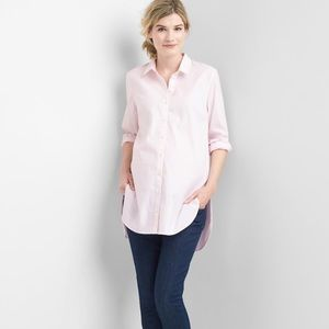 Gap Maternity Top Button Down Pink Sz M NWT Cotton